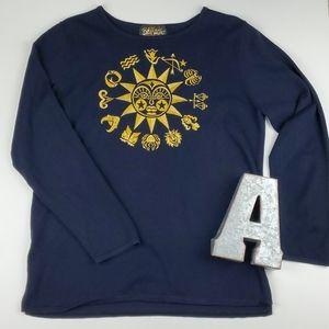 Bob Mackie Vintage Zodiac Astrology Sun Sweater